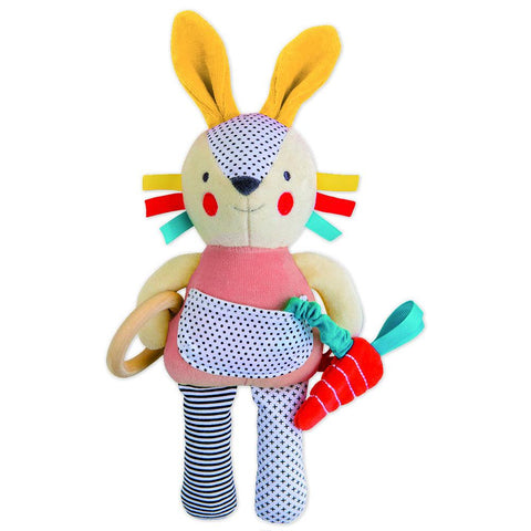 Petit Collage Organic Bunny Activity Toy