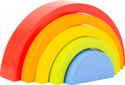 small foot - Wooden Building Blocks Rainbow