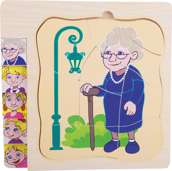 small foot - Layer Puzzle Grandma's Life