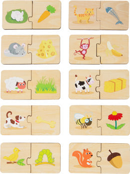 small foot - Feeding Animals Wooden Puzzle Learning Game