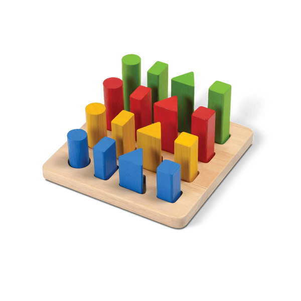 PlanToys - Geometric Peg Board