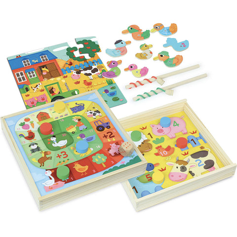 VILAC - Farm Tiny Tots Game Set
