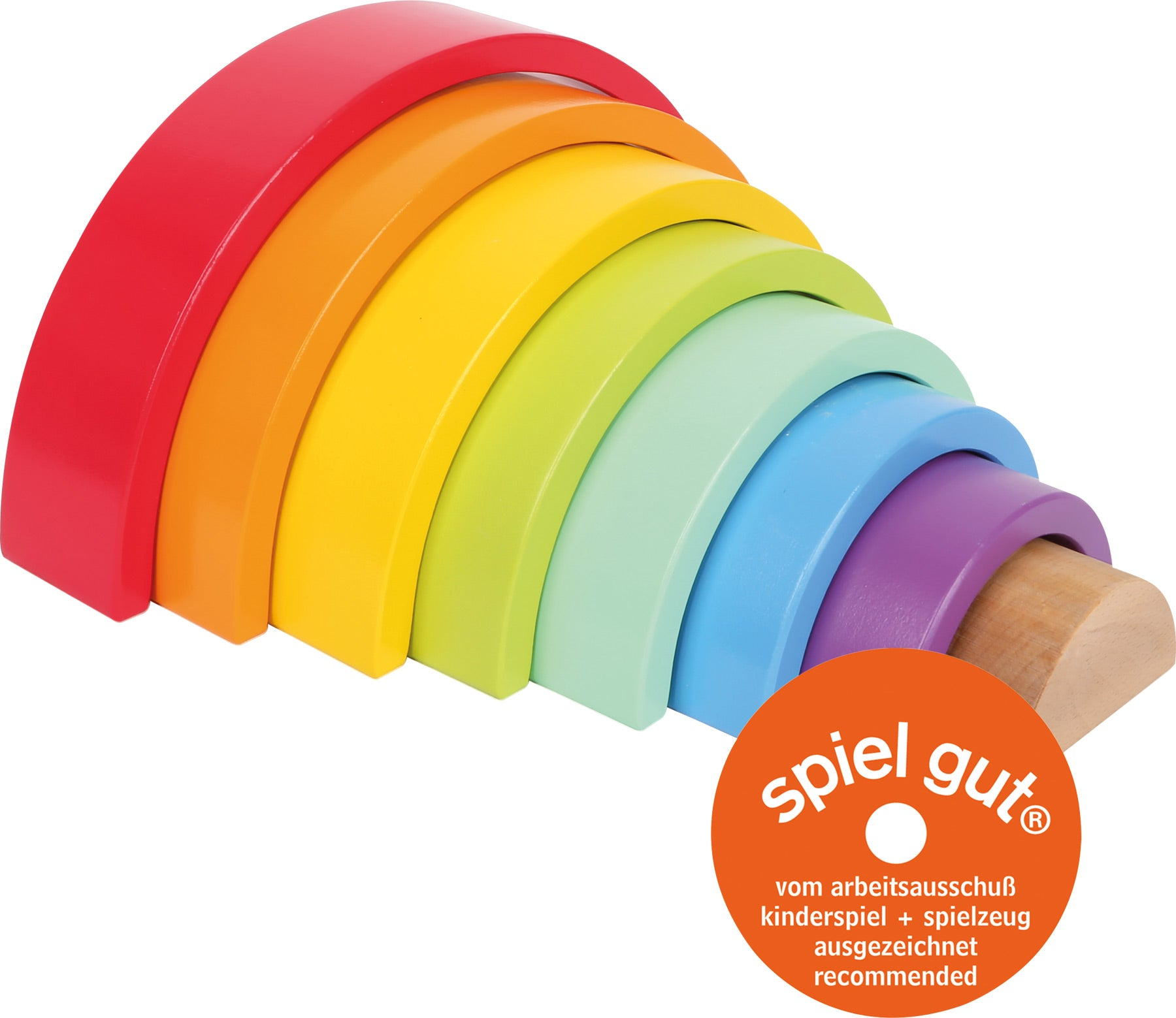 small foot - Wooden Building Blocks Large Rainbow