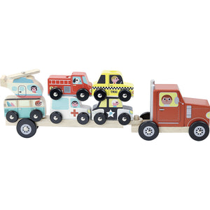 VILAC - Truck and Trailer with Vehicles Stacking Game