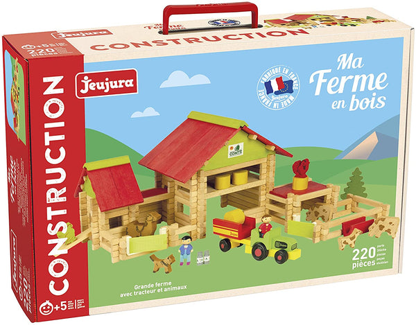 JEUJURA - Big Farm with Tractor & Animals- 220 pcs