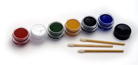 NATURAL EARTH PAINT - Children's Earth Paint - Natural Face Paint, 3 bamboo brushes