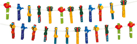 small foot - Animal Clothes Pegs Set
