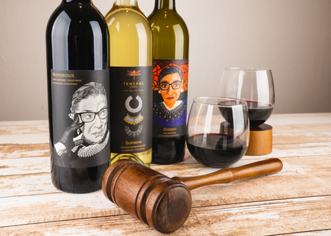 Notrious release of RBG wines from Teneral Cellars benefiting the National Women's Law Center