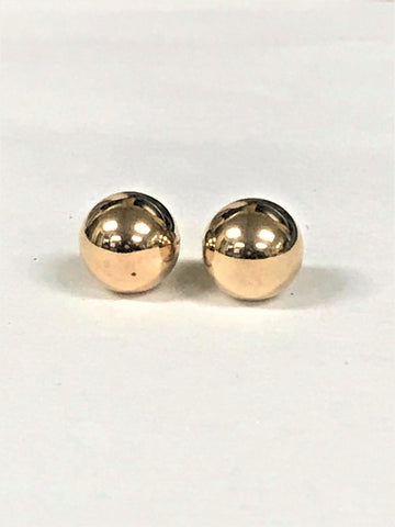 10K yellow gold 8mm Ball Post Earrings