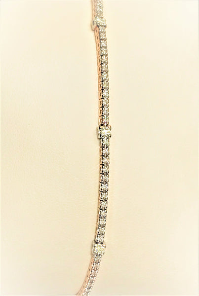 "7"" 14k rose/white gold Diamond Tennis Bracelet"