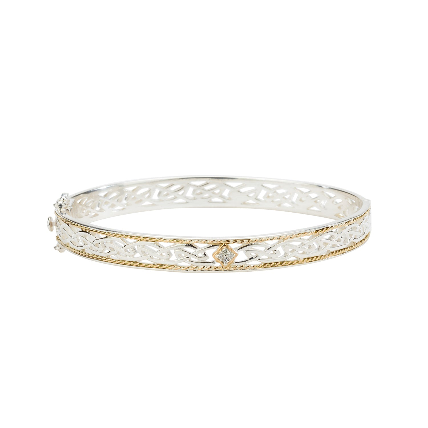 Bangle 10k Diamond TW 0.06ct Window to The Soul Bangle from welch and company jewelers near syracuse ny