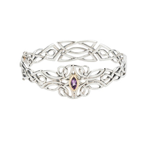 Bangle 10k Amethyst Guardian Angel Bangle from welch and company jewelers near syracuse ny