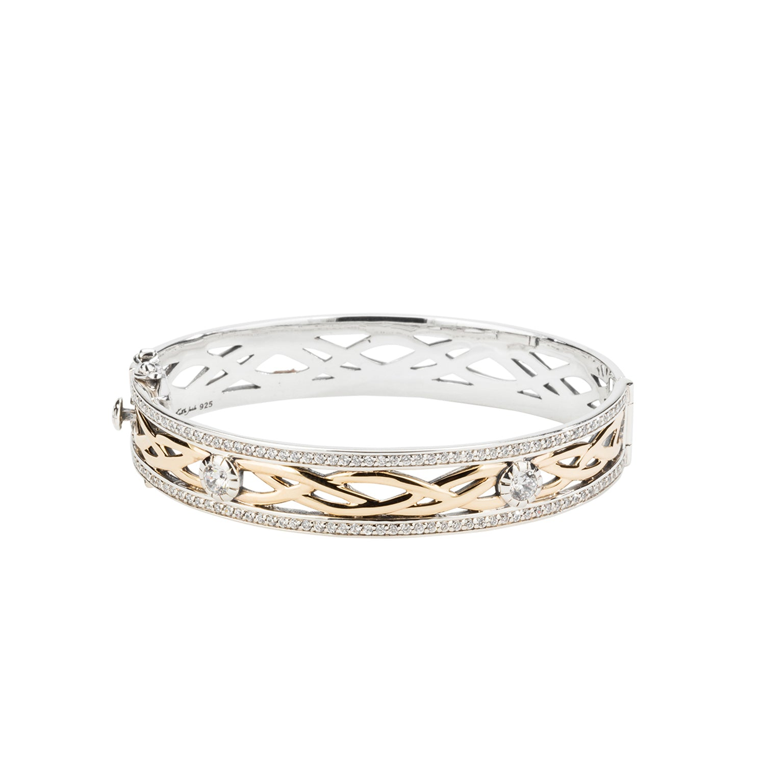 Bangle Oxidized 10k Yellow CZ Brave Heart Bangle from welch and company jewelers near syracuse ny
