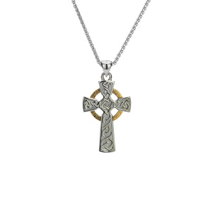 Pendant 10k Circle Cross Small Pendant from welch and company jewelers near syracuse ny