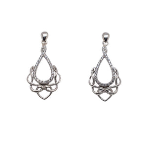 Earrings Rhodium CZ Love's Chalice Post Earrings from welch and company jewelers near syracuse ny