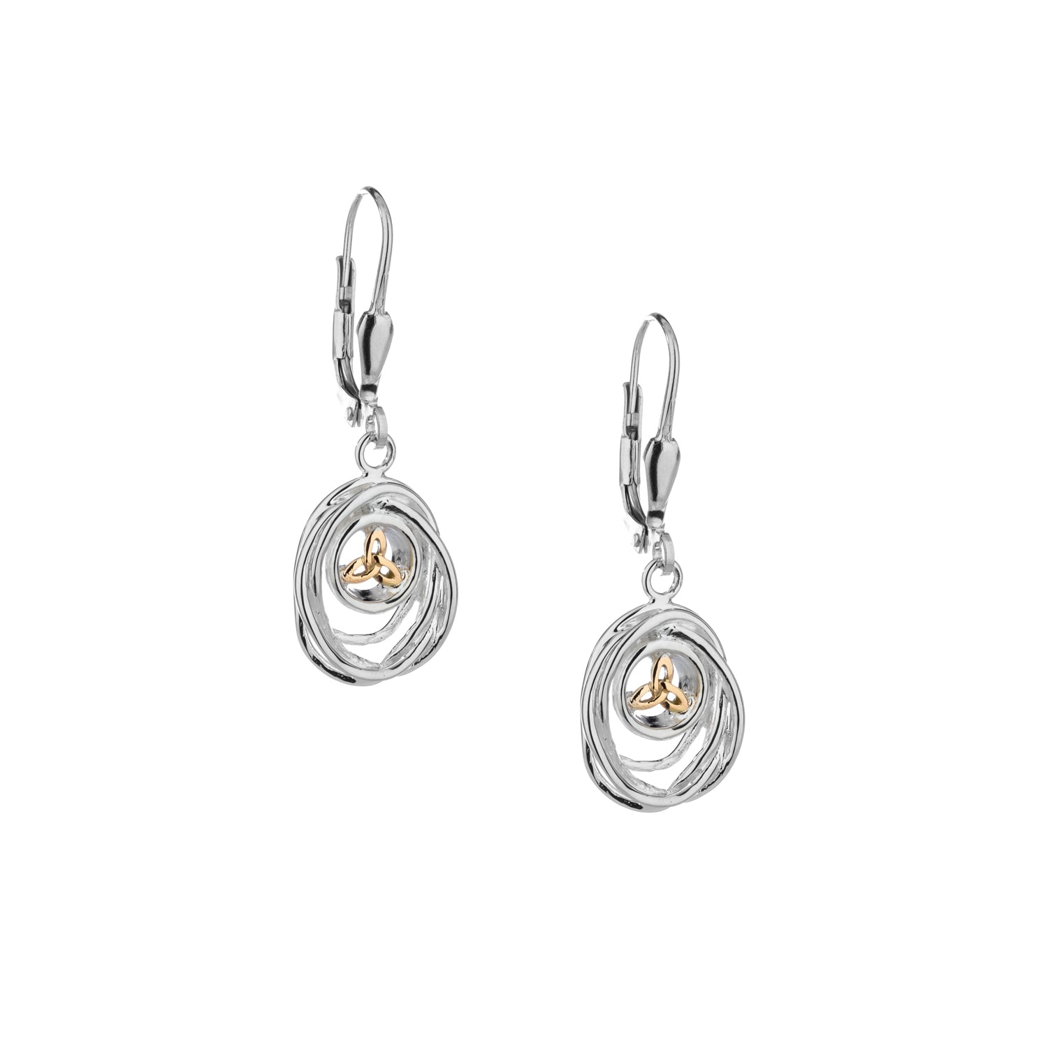 Earrings 10k Celtic Cradle of Life Leverback Drop Earrings from welch and company jewelers near syracuse ny