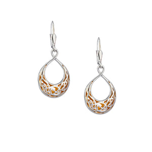 Earrings 22k Gilded Window to the Soul Teardrop Leverback Earrings from welch and company jewelers near syracuse ny