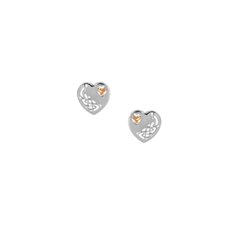 Earrings 10k Celtic Heart Post Earrings from welch and company jewelers near syracuse ny