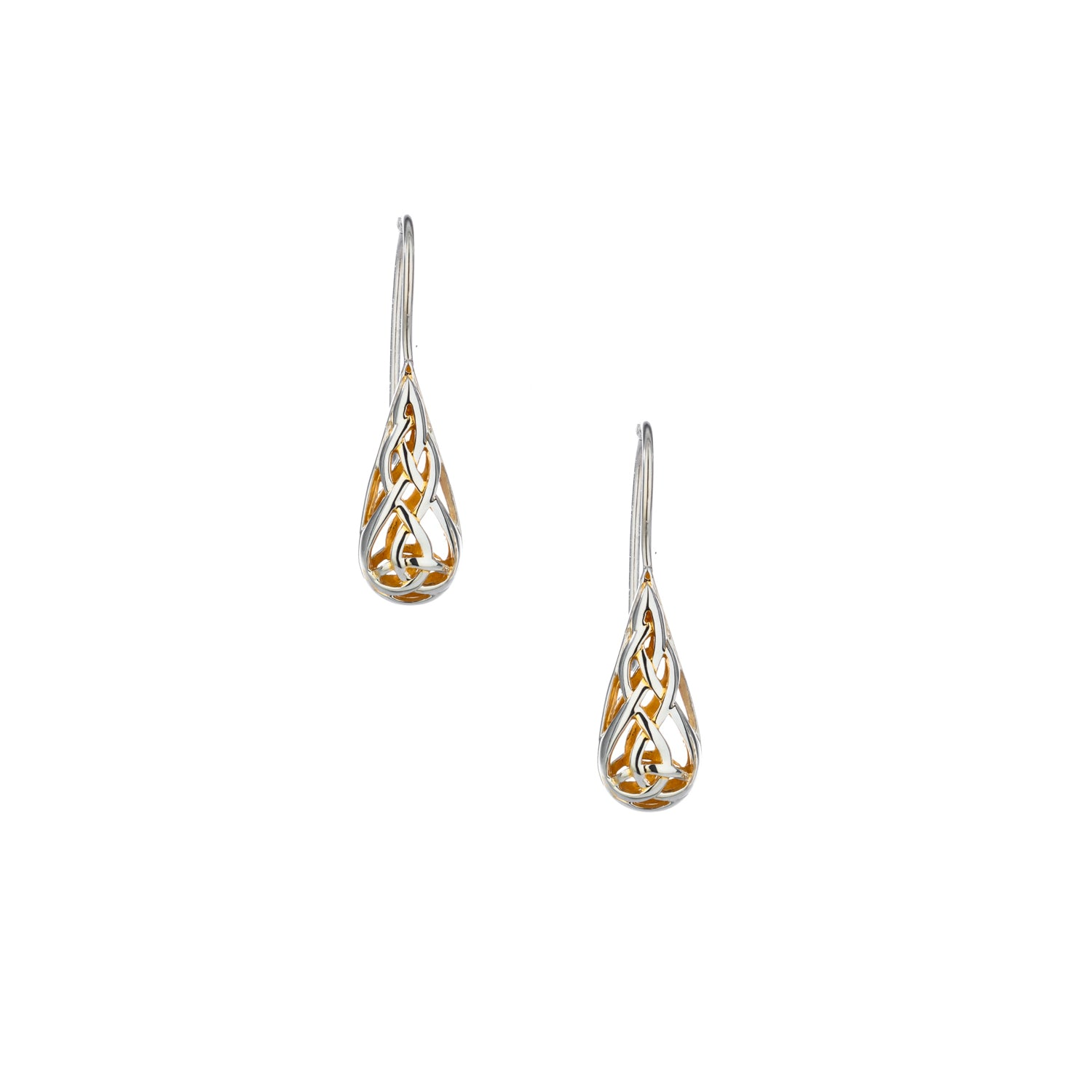 Earrings 22k Gilded Trinity Teardrop Hook Earrings from welch and company jewelers near syracuse ny