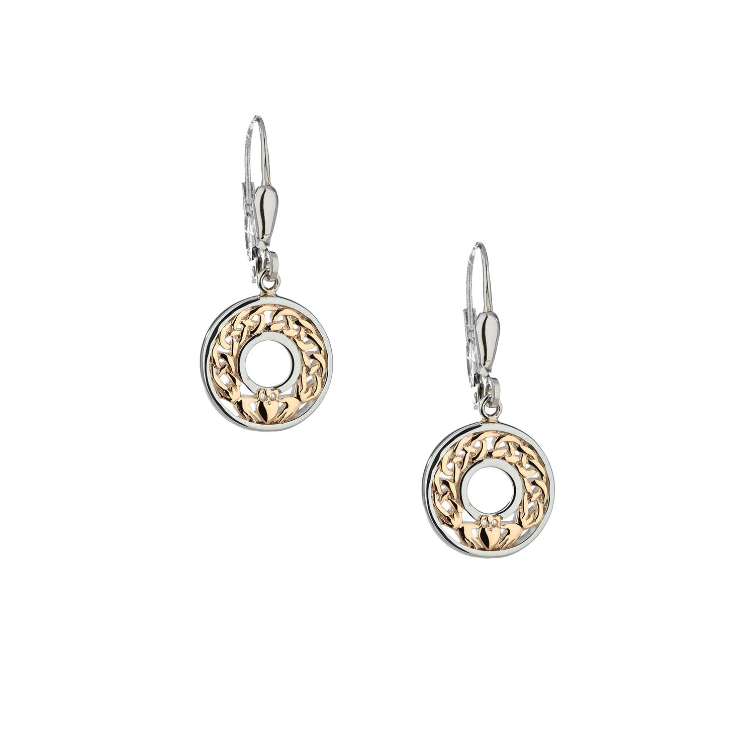 Earrings 10k Claddagh Leverback Earrings from welch and company jewelers near syracuse ny