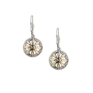 Earrings 10k White Topaz (2mm) Compass Leverback Earrings from welch and company jewelers near syracuse ny