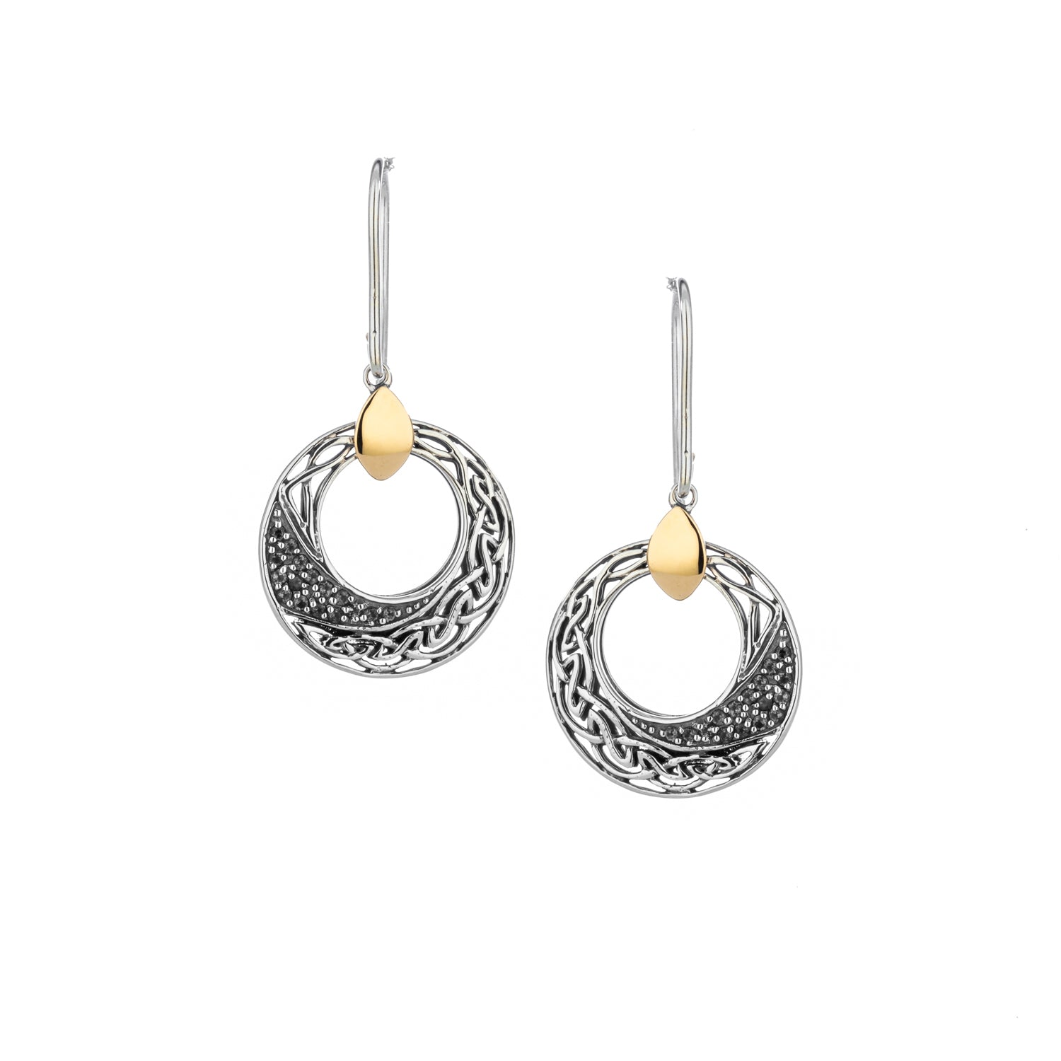 Earrings 10k White Topaz Comet Round Hook Earrings from welch and company jewelers near syracuse ny