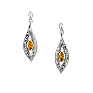 Earrings 10k Citrine Eternity Knot Elven Post Earrings from welch and company jewelers near syracuse ny