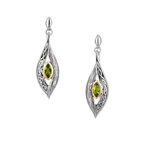 Earrings 10k Peridot Eternity Knot Elven Post Earrings from welch and company jewelers near syracuse ny