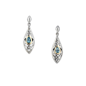 Earrings 10k Sky Blue Topaz Elven Post Earrings from welch and company jewelers near syracuse ny