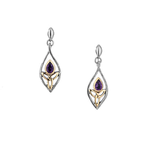 Earrings Oxidized 10k Amethyst Archangel Post Earrings from welch and company jewelers near syracuse ny