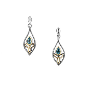 Earrings Oxidized 10k Blue Topaz Archangel Post Earrings from welch and company jewelers near syracuse ny