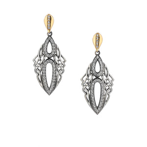 Earrings 10k CZ Tribal Gateway Post Earrings from welch and company jewelers near syracuse ny
