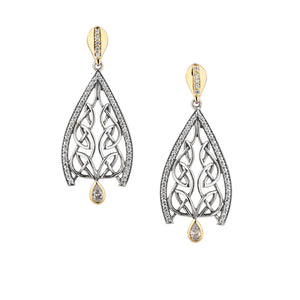Earrings 10k CZ Dew Drop Gateway Post Earrings from welch and company jewelers near syracuse ny