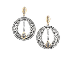 Earrings 10k CZ Woven Round Gateway Post Earrings from welch and company jewelers near syracuse ny