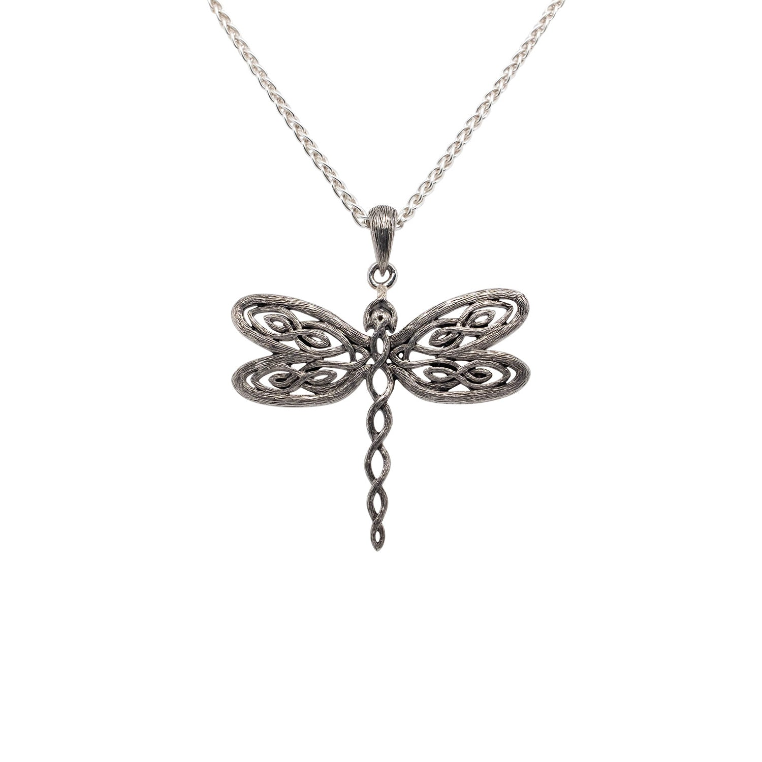 Pendant Rhodium Barked Dragonfly Pendant from welch and company jewelers near syracuse ny
