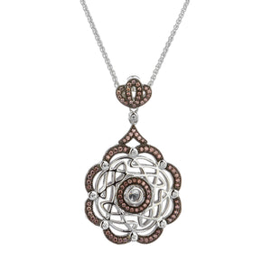 Pendant Rhodium CZ Night & Day Eternity Wave Pendant from welch and company jewelers near syracuse ny