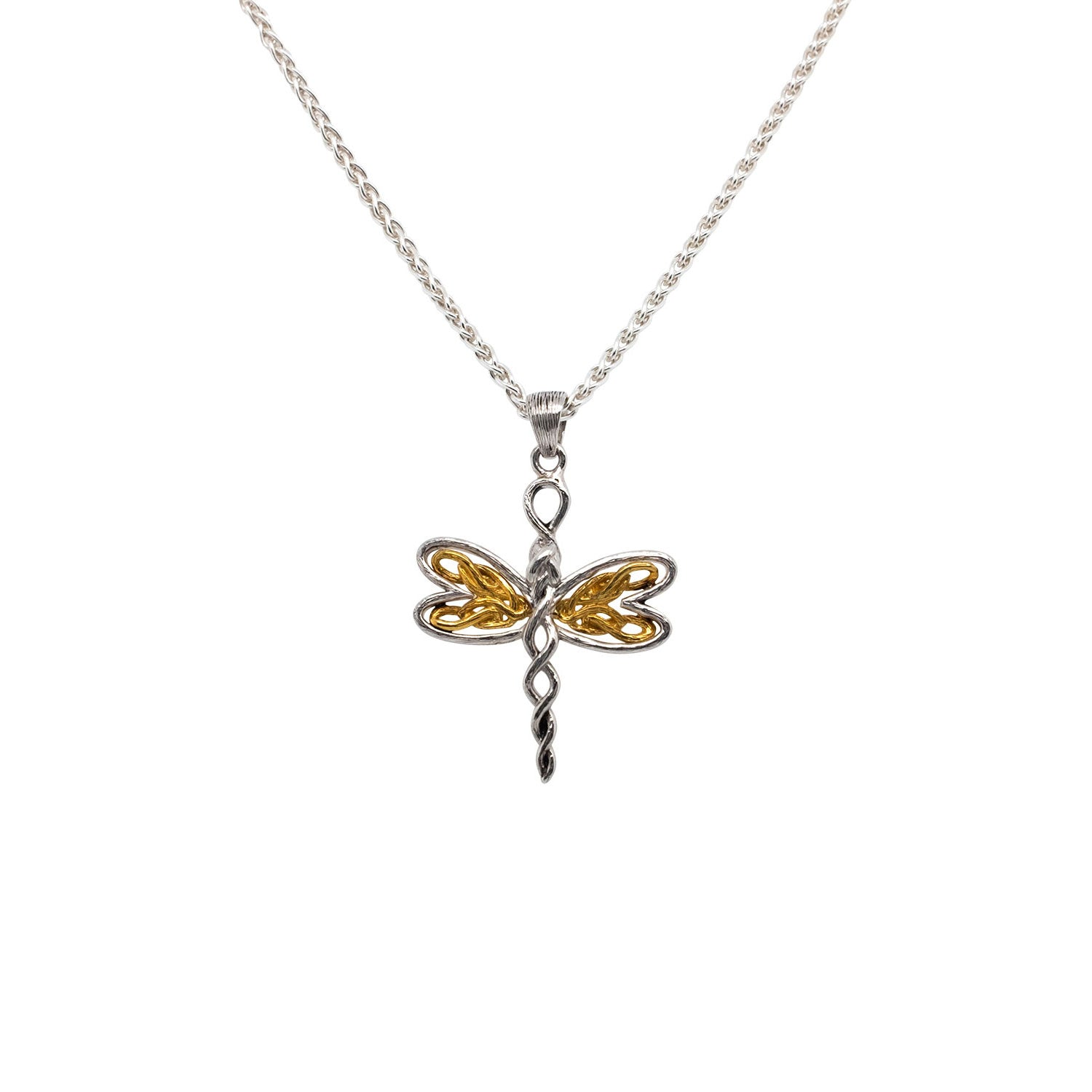 Pendant Rhodium 10k Rose Petite Dragonfly Pendant from welch and company jewelers near syracuse ny