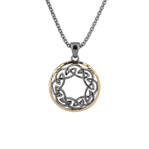 Pendant Ruthenium 10k Eternity Knot Hammered Pendant from welch and company jewelers near syracuse ny