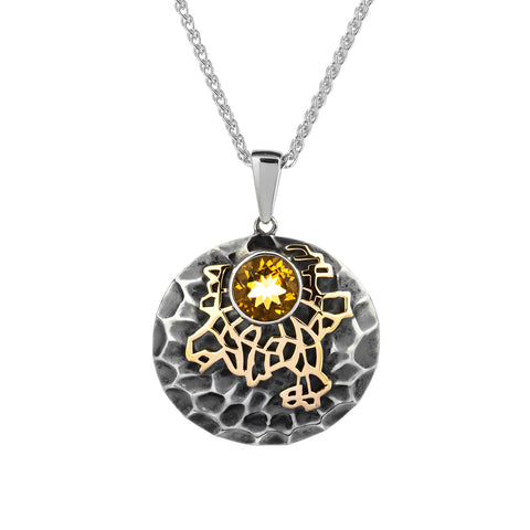 "Pendant 10k Citrine ""Earth"" Element Pendant from welch and company jewelers near syracuse ny"