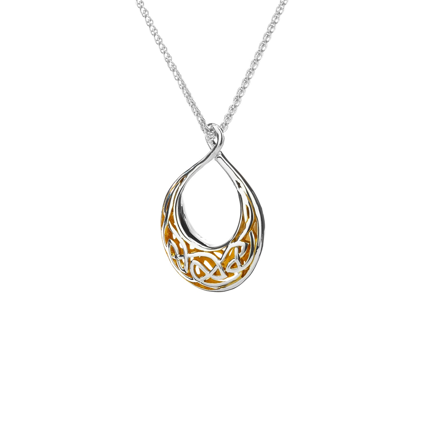 Pendant S/Sil 22k Gilded Window to the Soul Small Teardrop Pendant from welch and company jewelers near syracuse ny