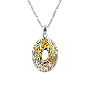 Pendant 22k Gilded Window to the Soul Oval Pendant from welch and company jewelers near syracuse ny