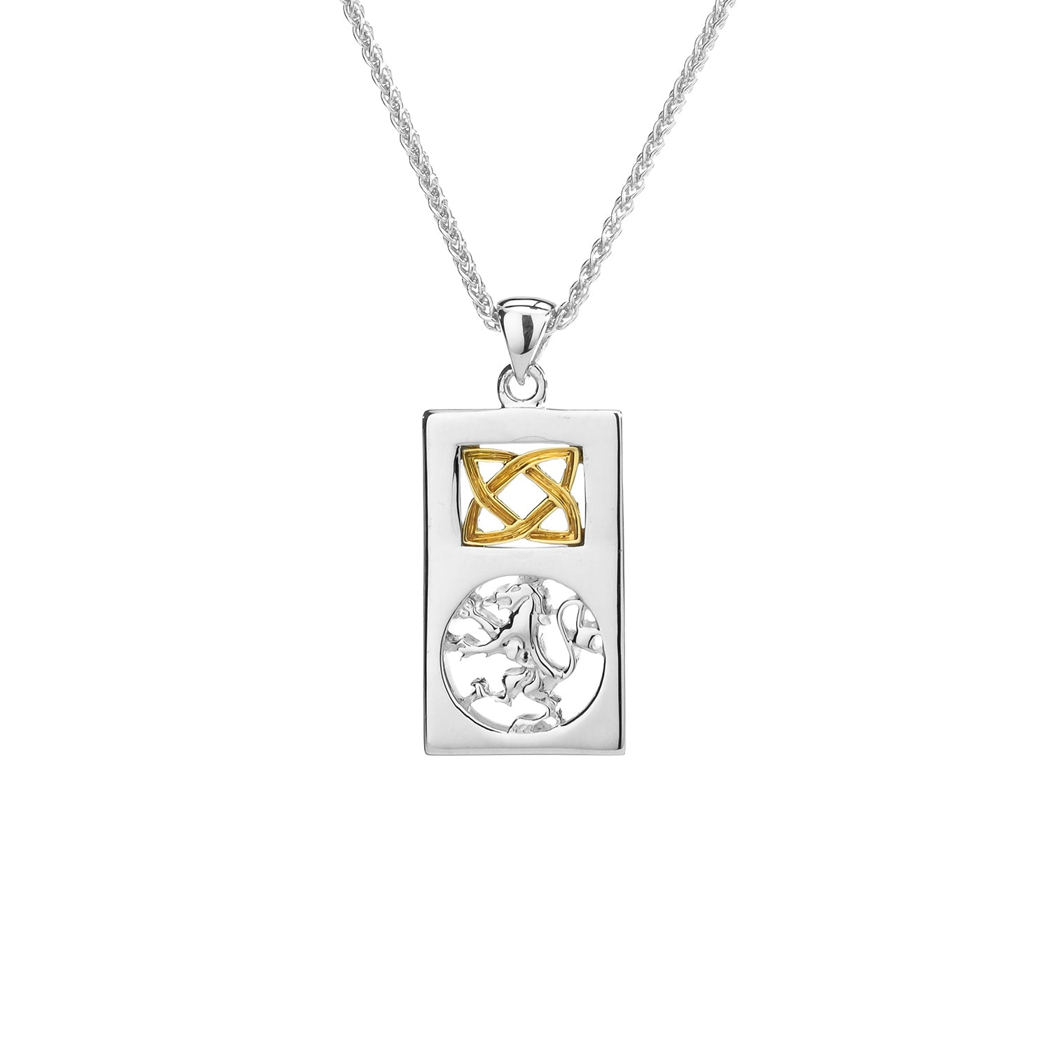 Pendant 10k Lion Rampant Rectangle Small Pendant from welch and company jewelers near syracuse ny