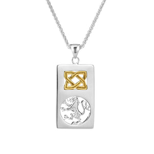 Pendant 10k Lion Rampant Rectangle Pendant from welch and company jewelers near syracuse ny