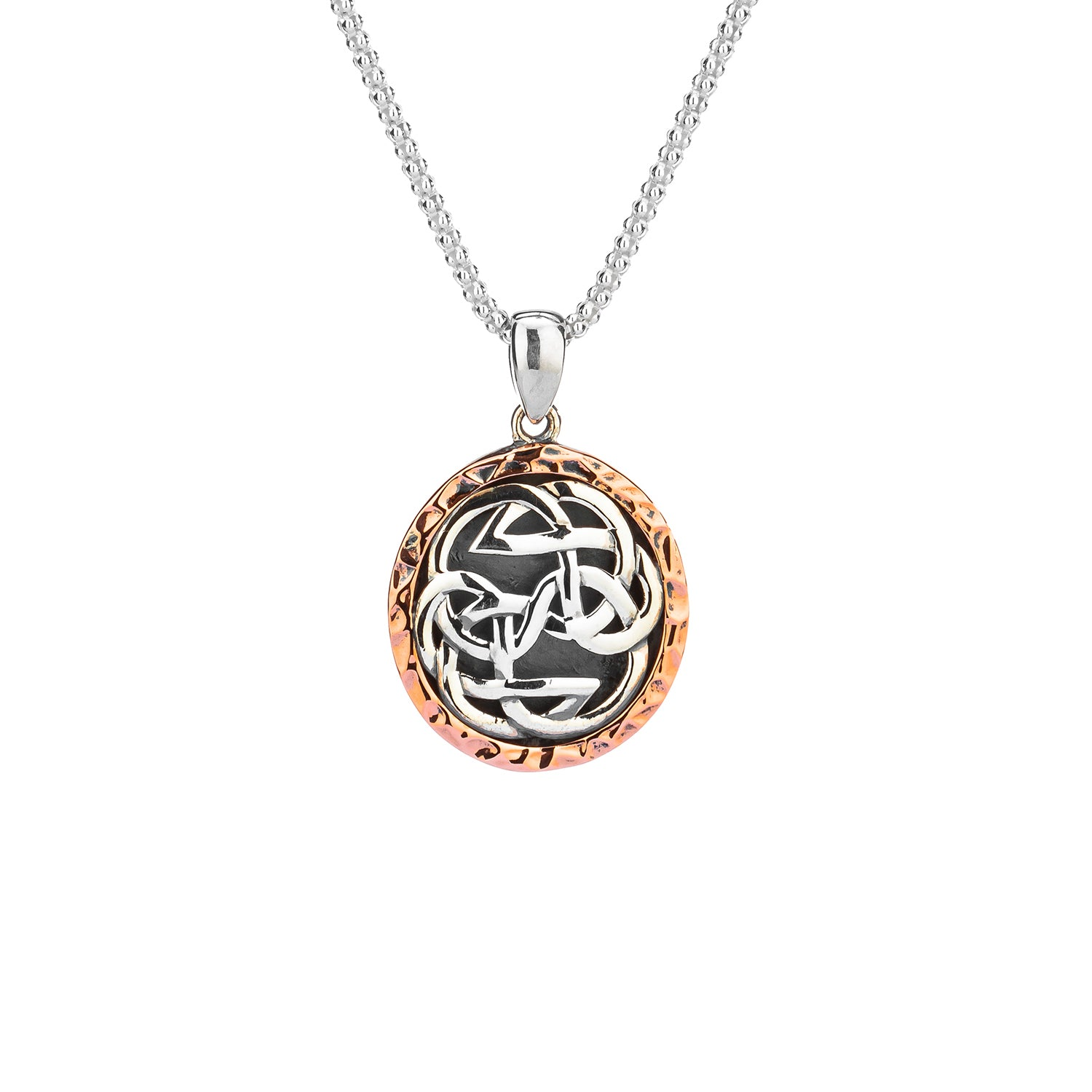 Pendant Oxidized 10k Rose Lewis Knot - Path of Life Pendant from welch and company jewelers near syracuse ny