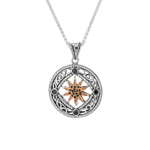 Pendant Oxidized 10k Rose Black & White CZ Freyr Pendant from welch and company jewelers near syracuse ny