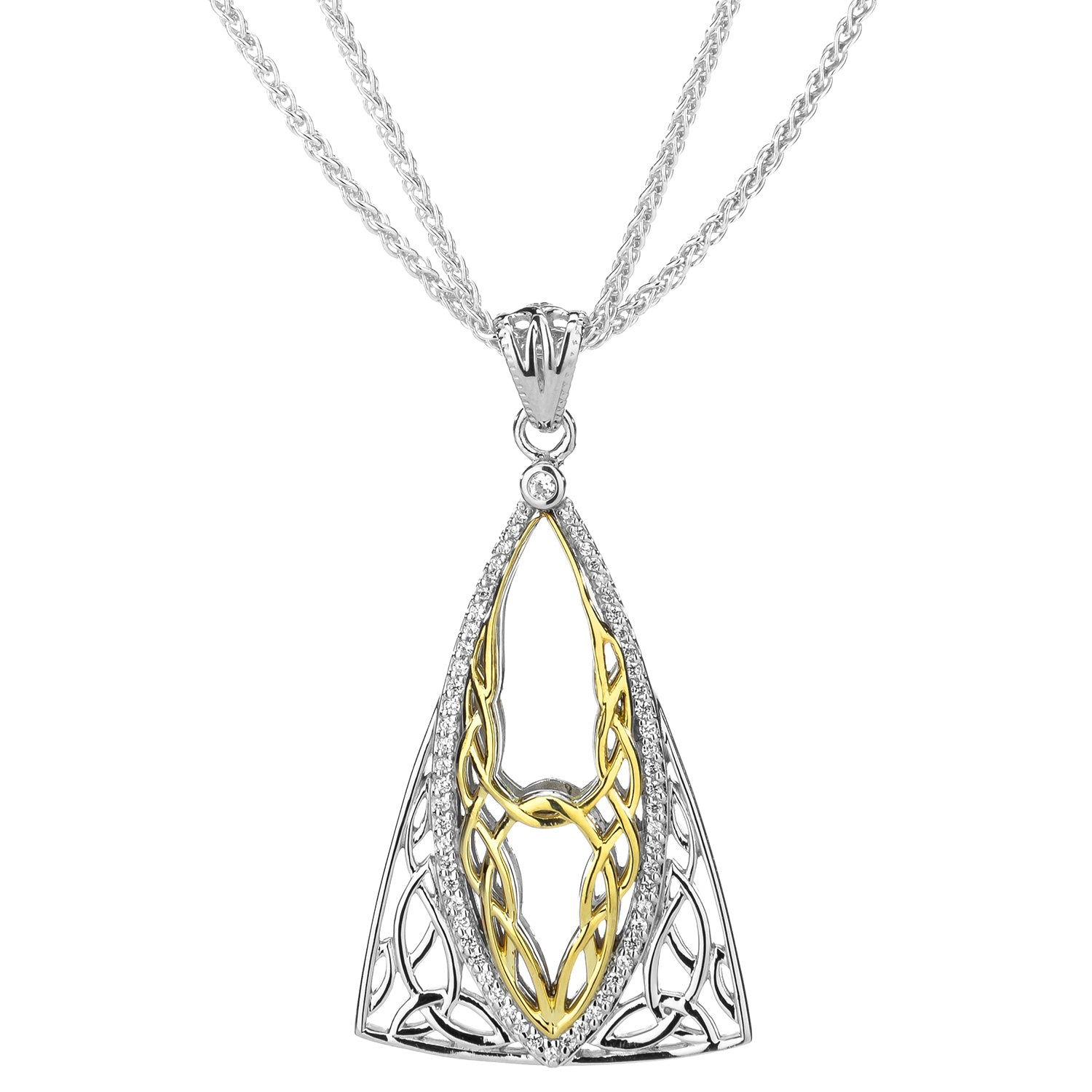 Pendant Rhodium 10k CZ Tower Gateway Pendant from welch and company jewelers near syracuse ny