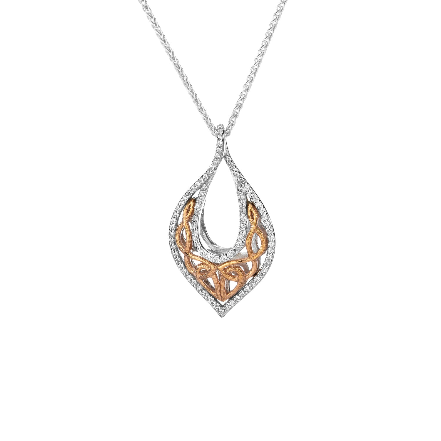 Pendant Rhodium 10k Rose CZ Love's Chalice Pendant from welch and company jewelers near syracuse ny