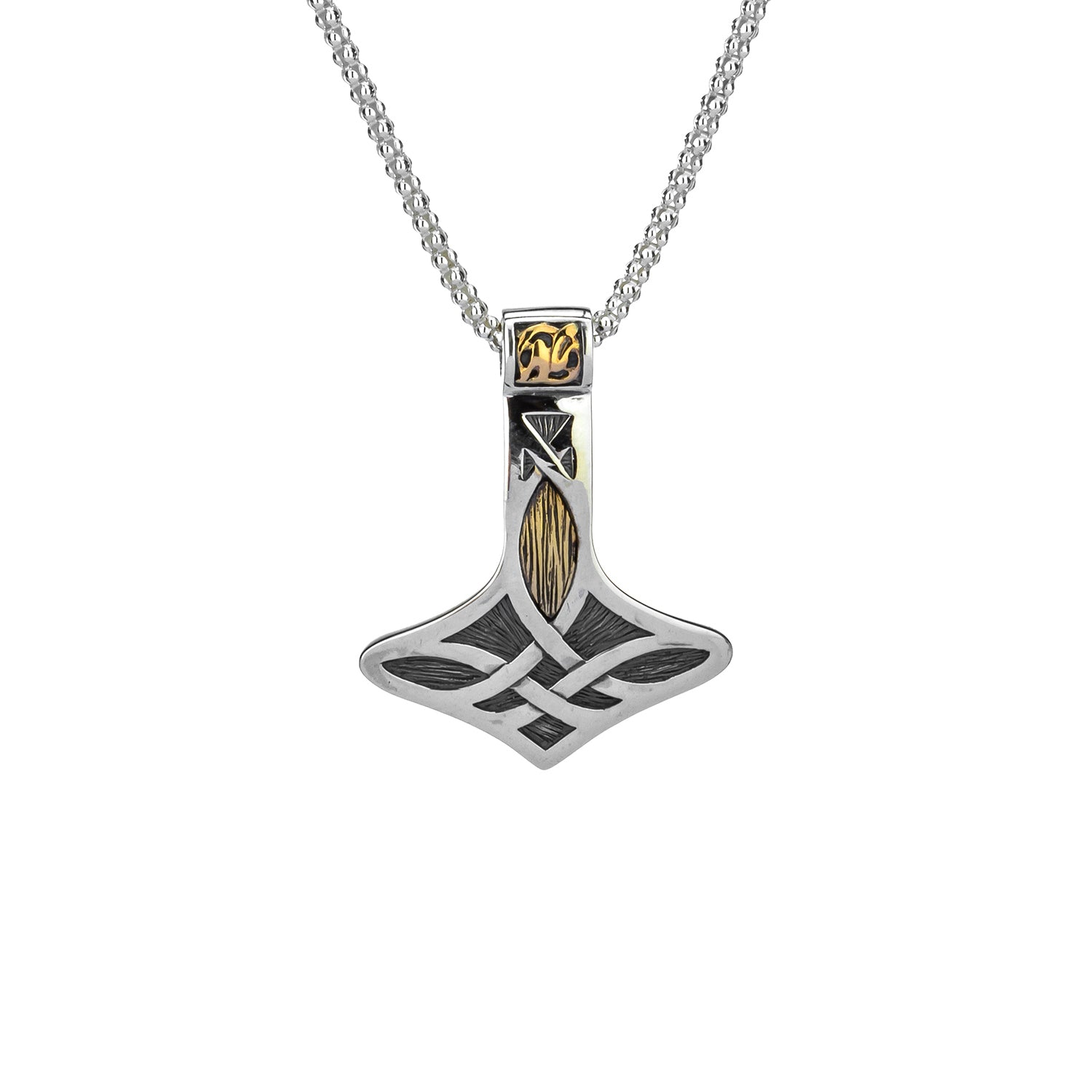 Pendant Oxidized 10k Thor's Hammer Small Pendant from welch and company jewelers near syracuse ny