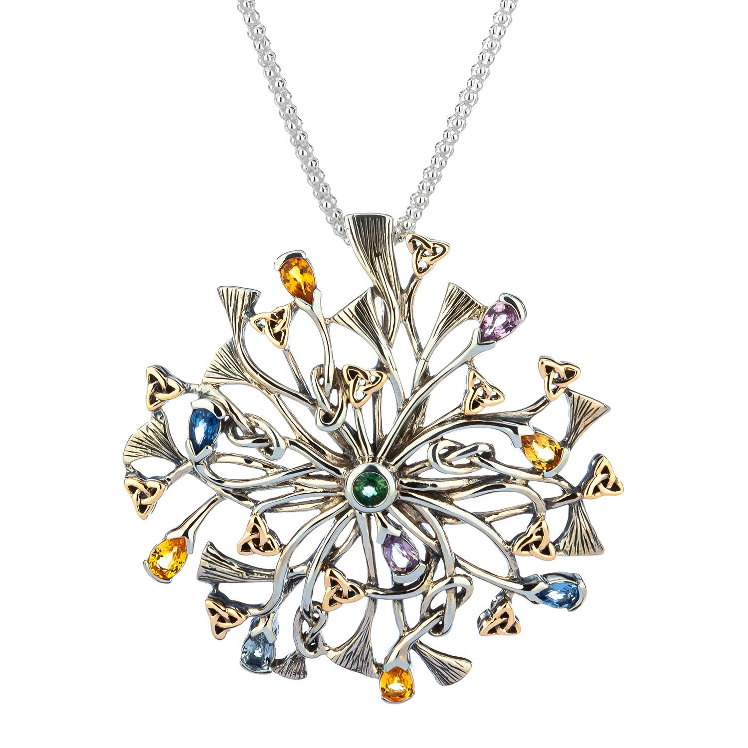 Pendant 10k Rhapsody with 3.5mm Pear Shaped Multicolored Sapphire Pendant from welch and company jewelers near syracuse ny