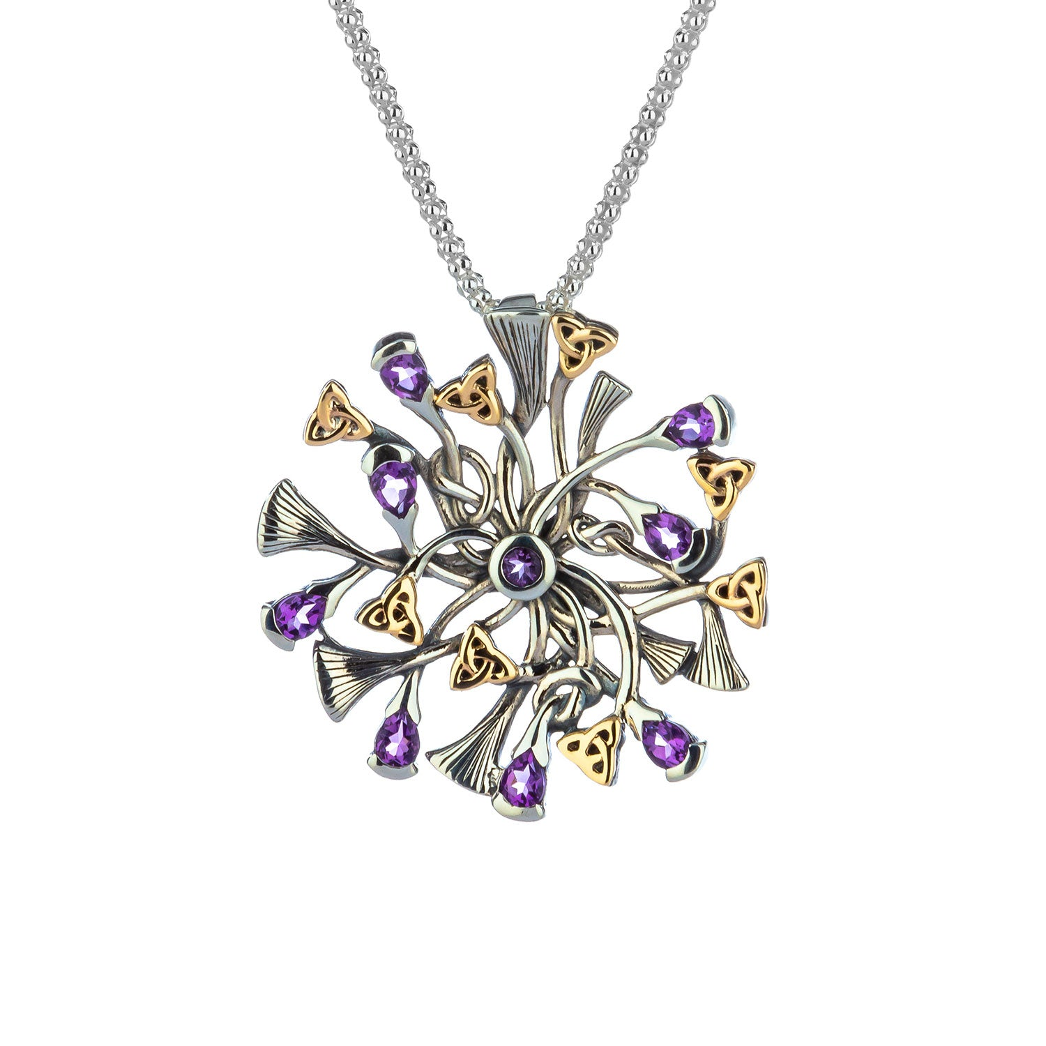 Pendant 10k Rhapsody with 3mm Pear Shaped Amethyst Small Pendant from welch and company jewelers near syracuse ny
